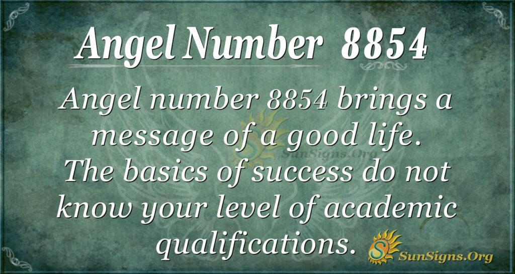 8854 angel number