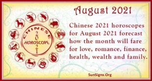 august 2021 chinese horoscope