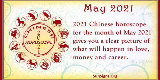 may 2021 chinese horoscope