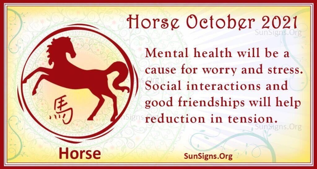 horse october 2021