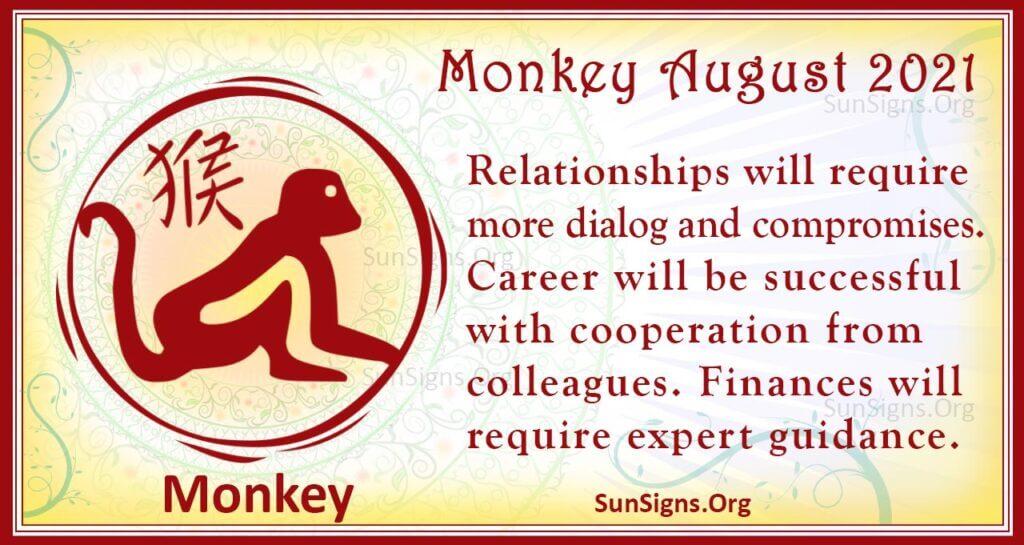 monkey august 2021