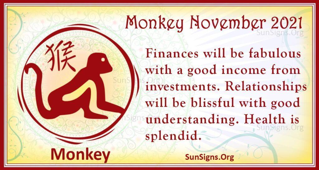 monkey november 2021
