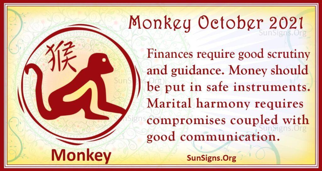 monkey october 2021