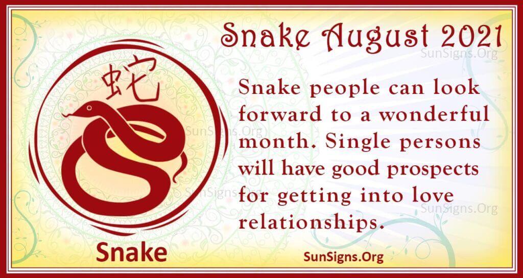 snake august 2021