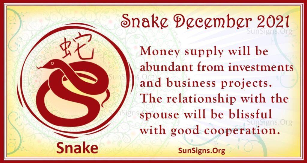 snake december 2021