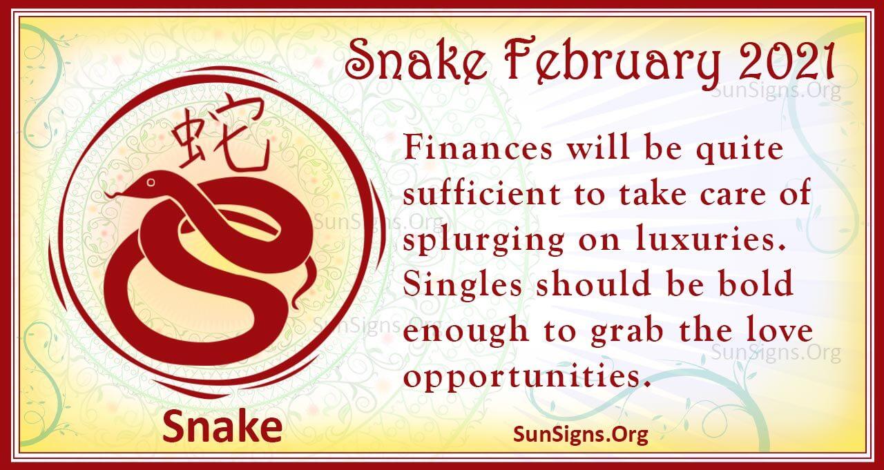 snake february 2021