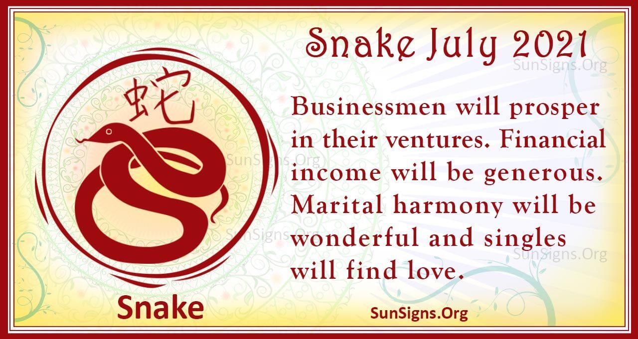 snake july 2021