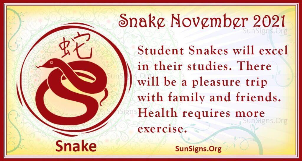 snake november 2021