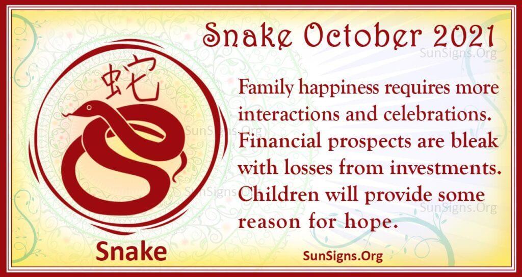 snake october 2021