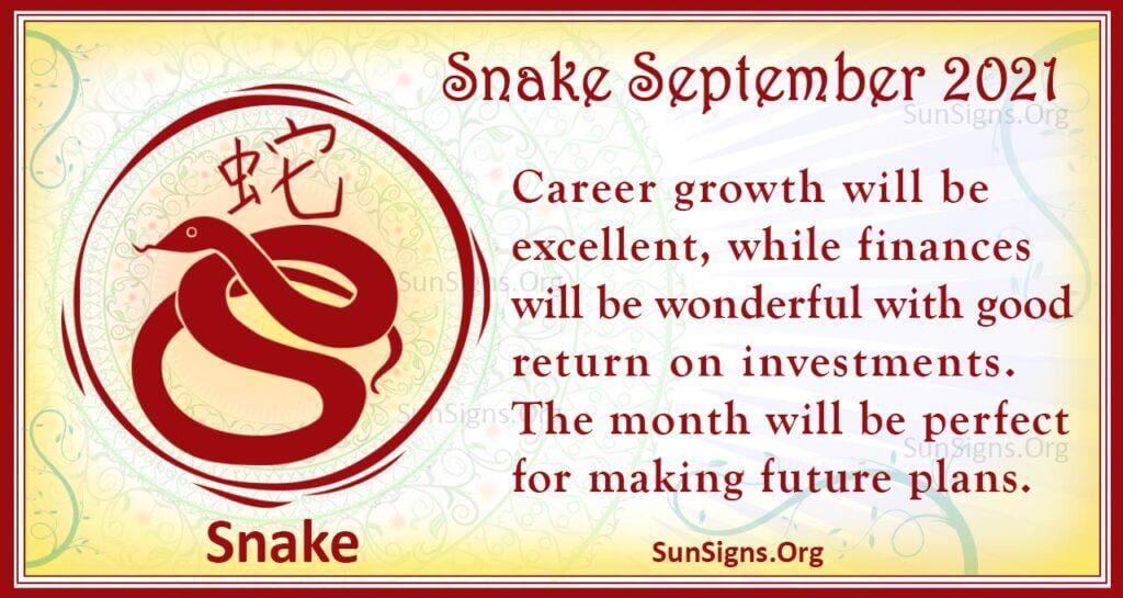 snake september 2021
