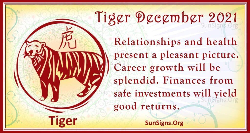 tiger december 2021