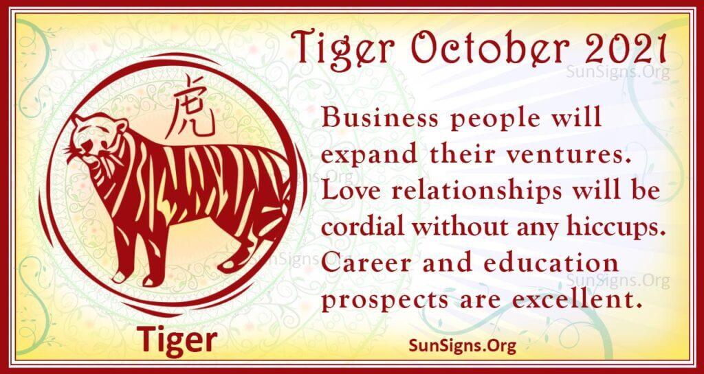 tiger october 2021