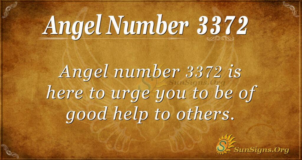 3372 angel number