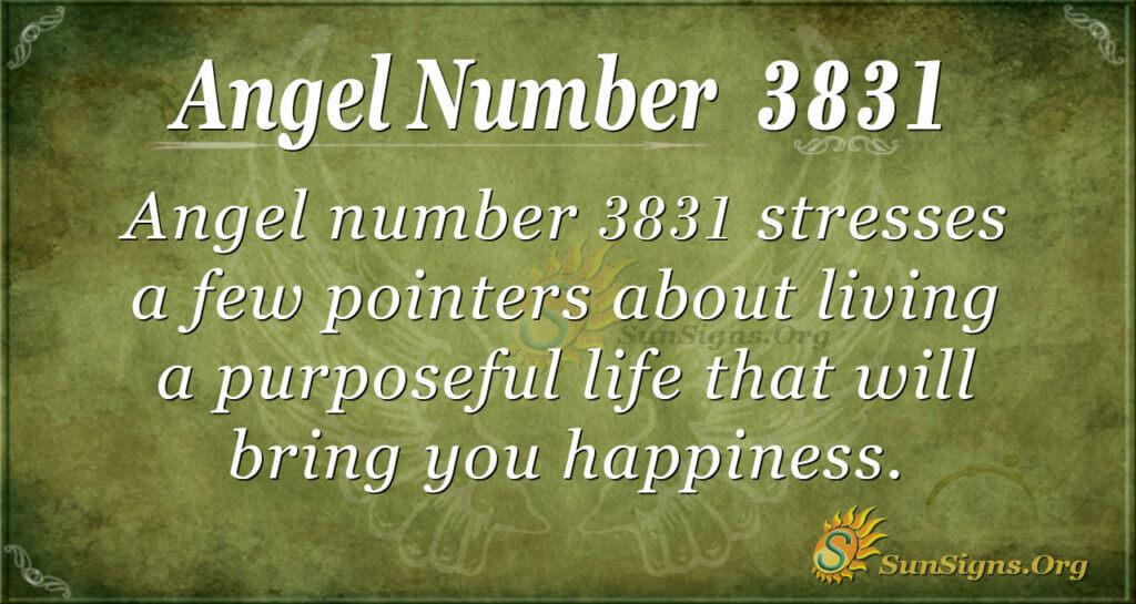 3831 angel number