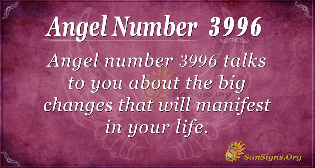 3996 angel number