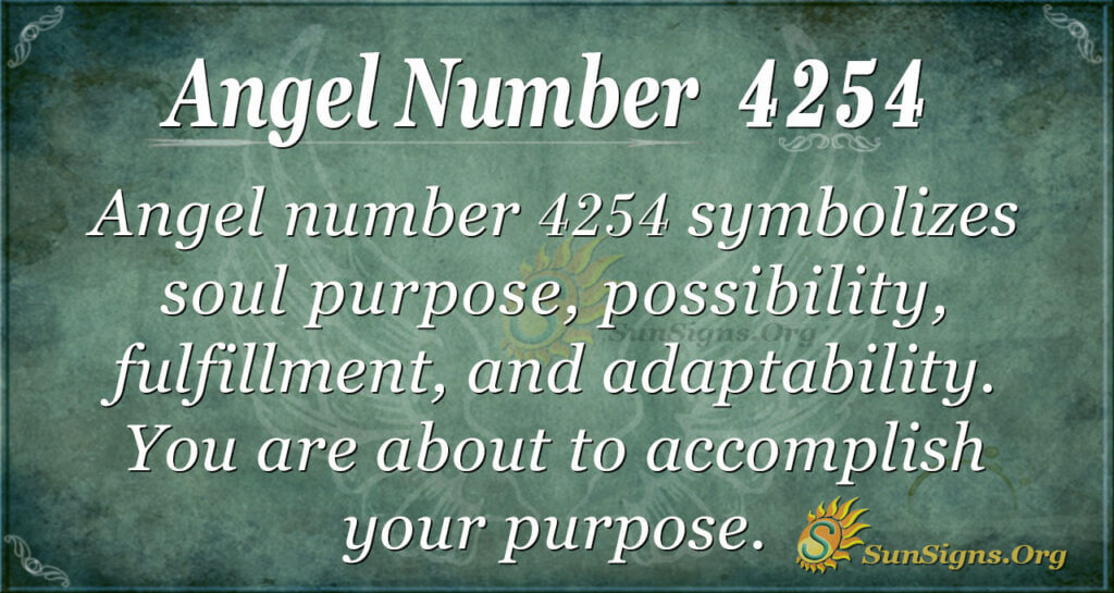 4254 angel number