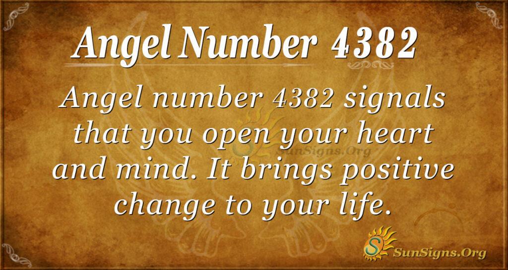 4382 angel number