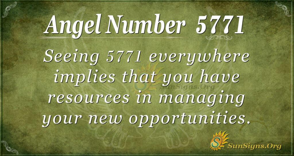 5771 angel number