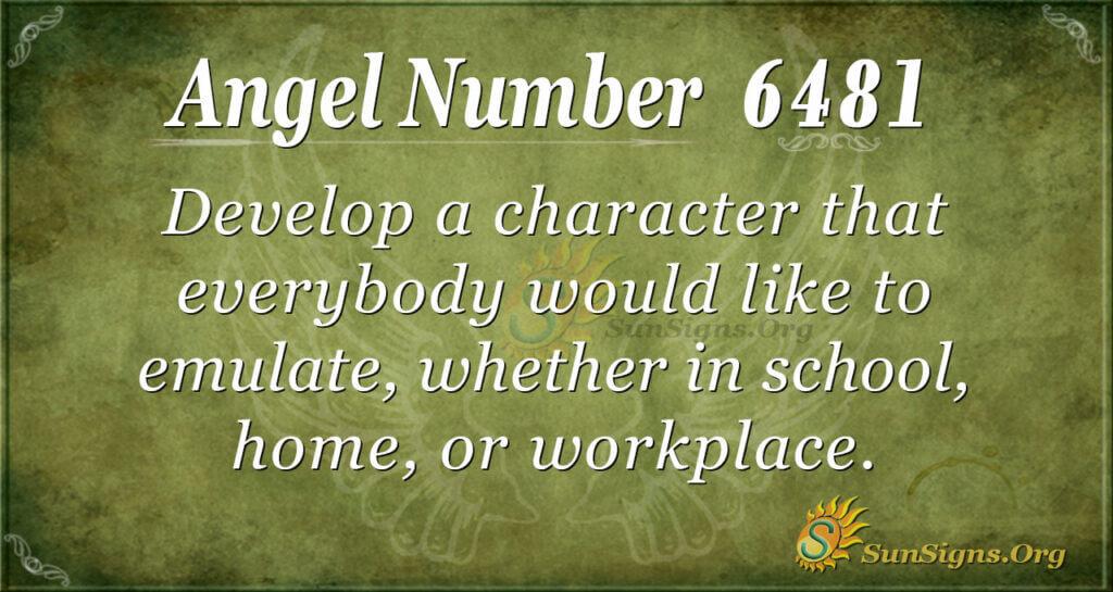 6481 angel number