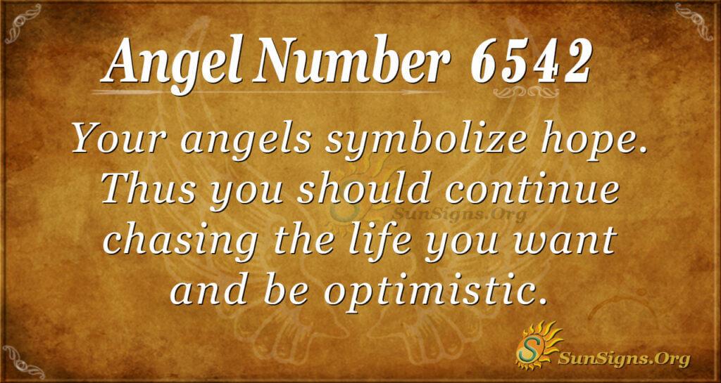 6542 angel number