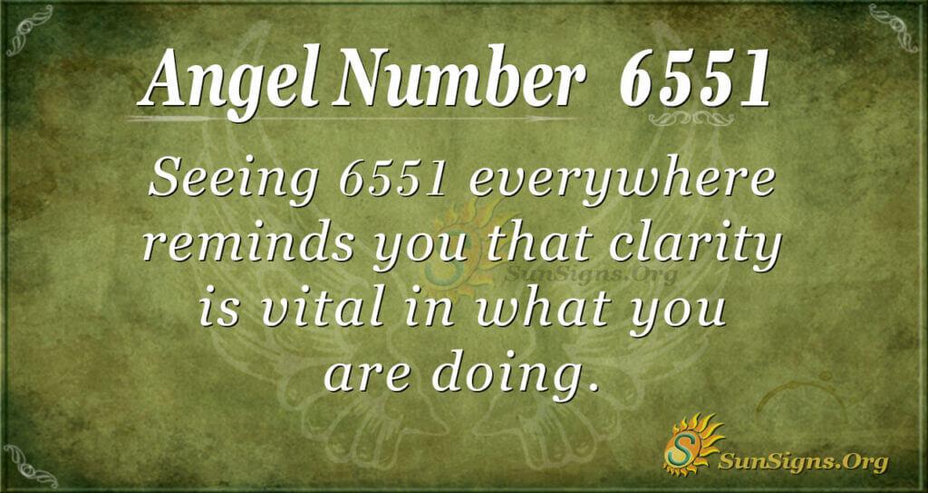 6551 angel number