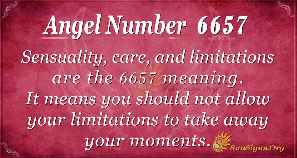 6657 angel number