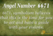 6671 angel number