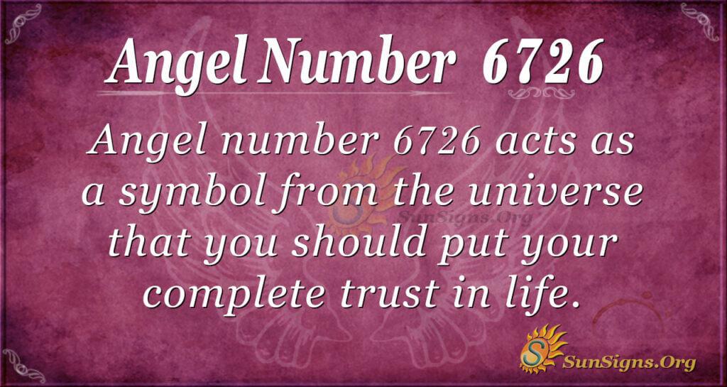6726 angel number