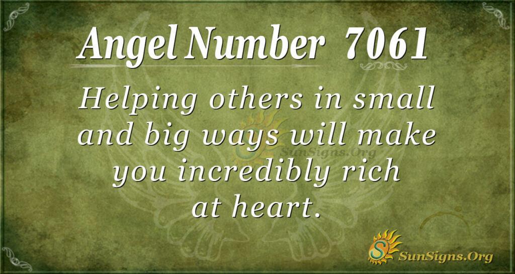 7061 angel number