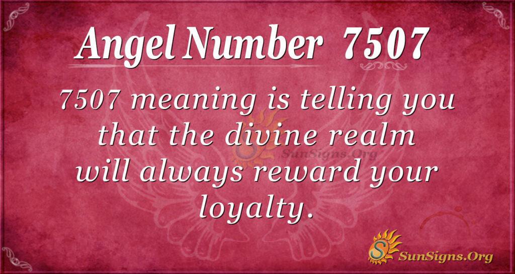 7507 angel number