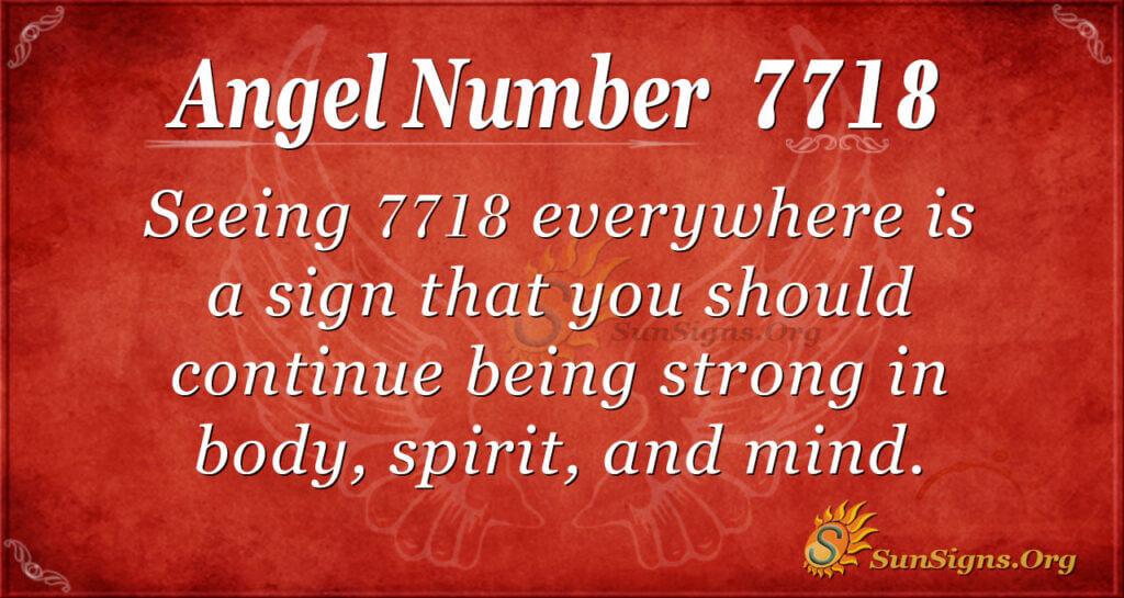 7718 angel number