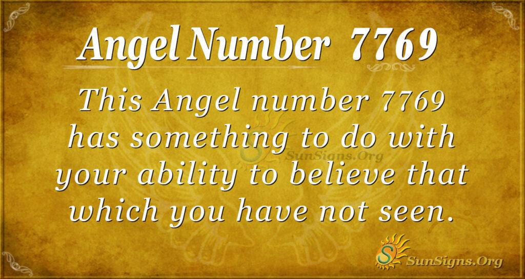 7769 angel number
