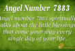 7883 angel number