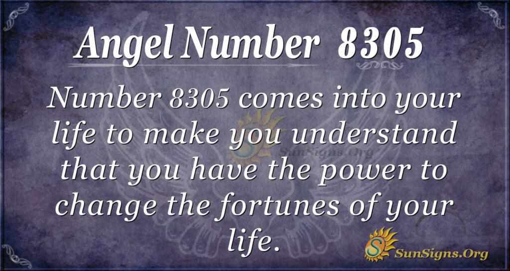 8305 angel number