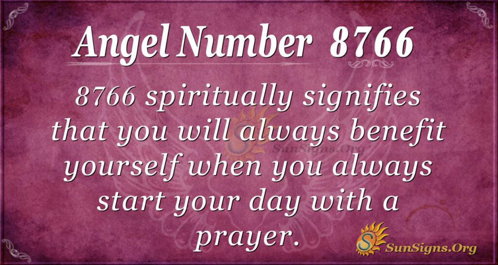 8766 angel number