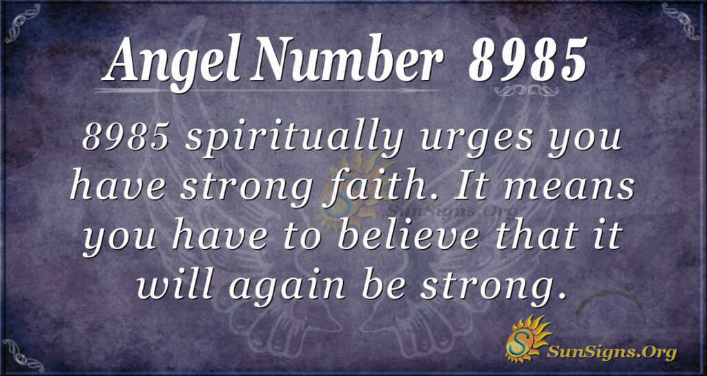 8985 angel number