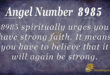 8985 angel number