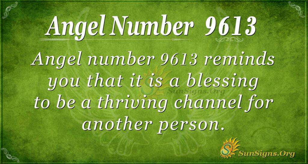 9613 angel number