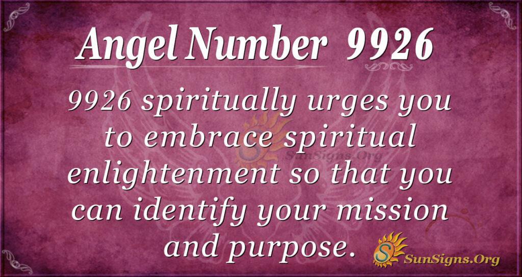 9926 angel number