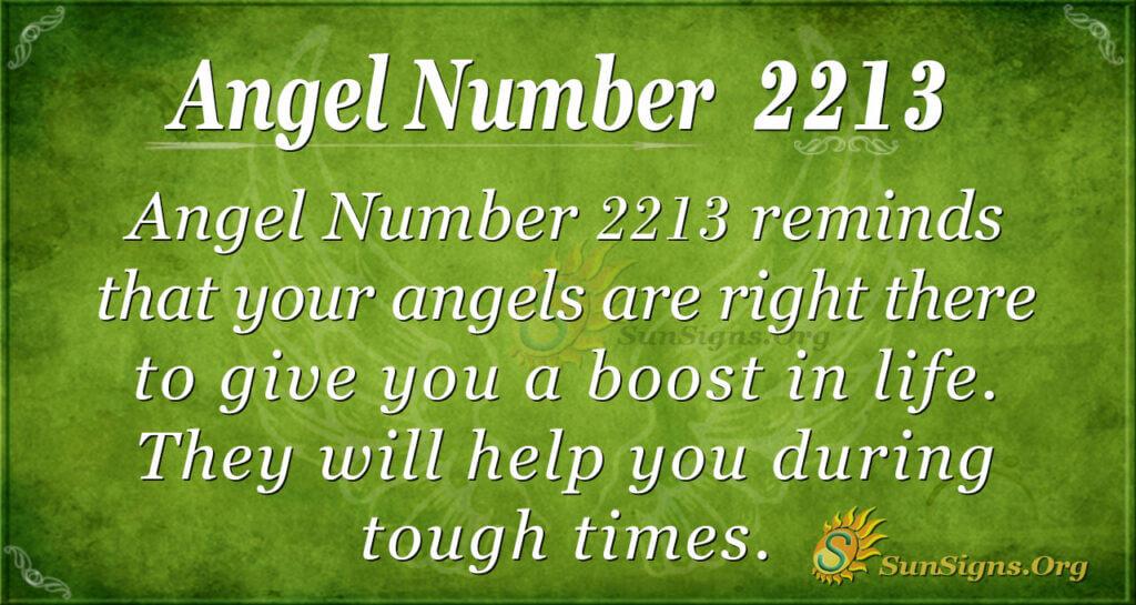 2213 angel number