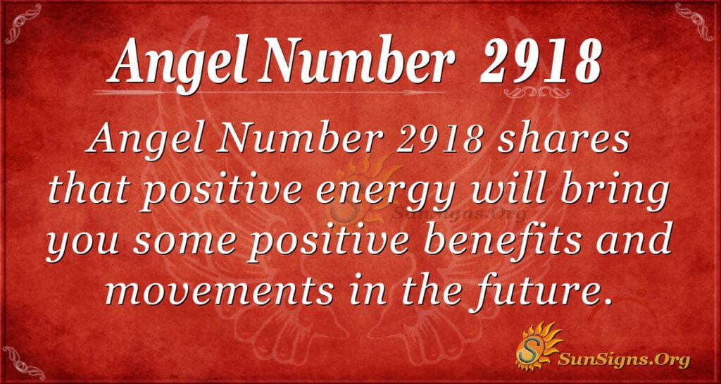 2918 angel number
