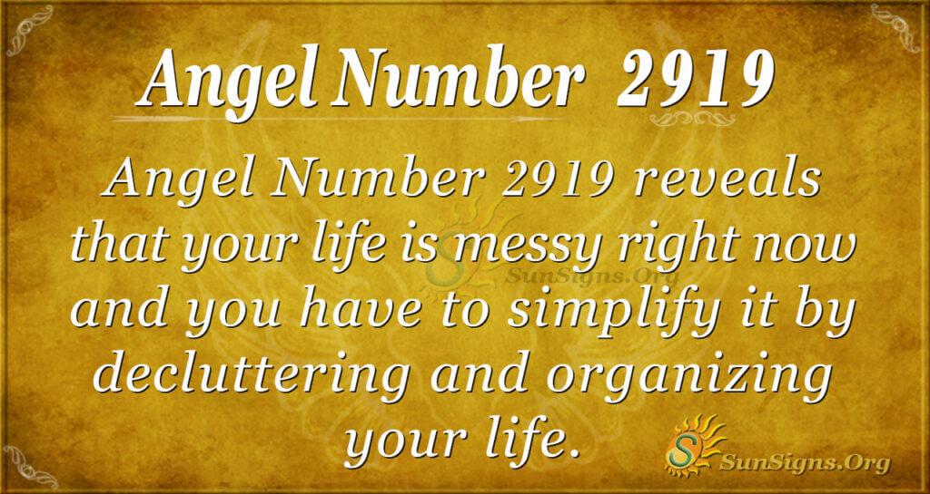 2919 angel number
