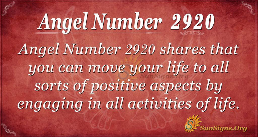 2920 angel number
