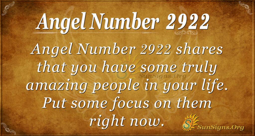2922 angel number