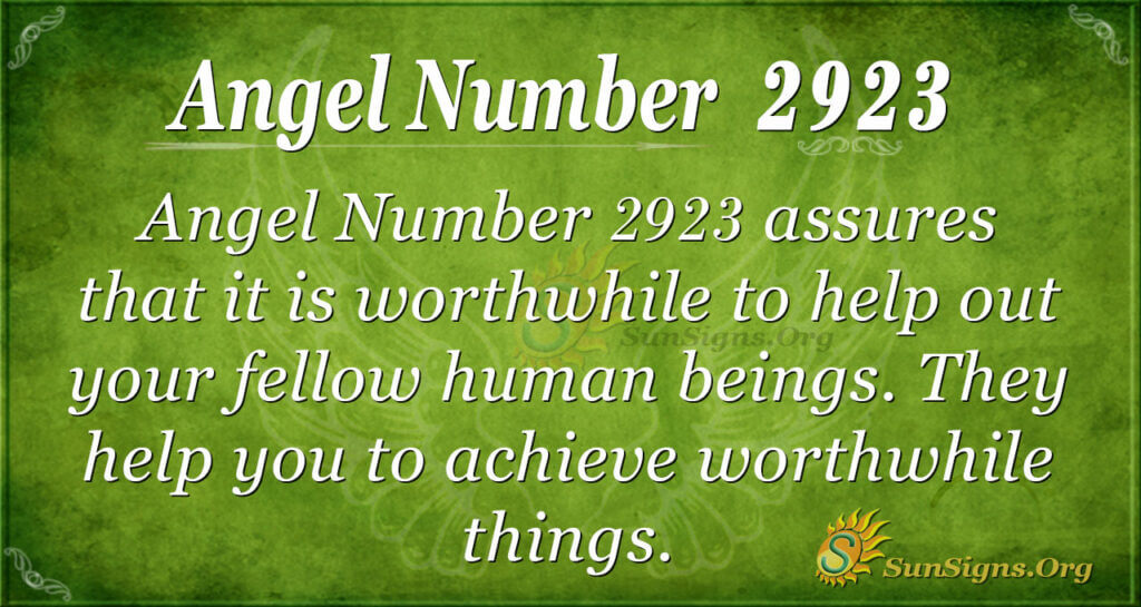 2923 angel number