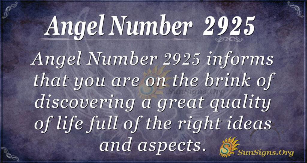 2925 angel number