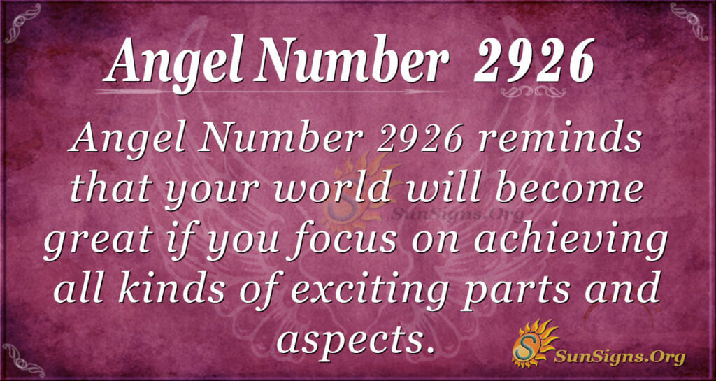 2926 angel number