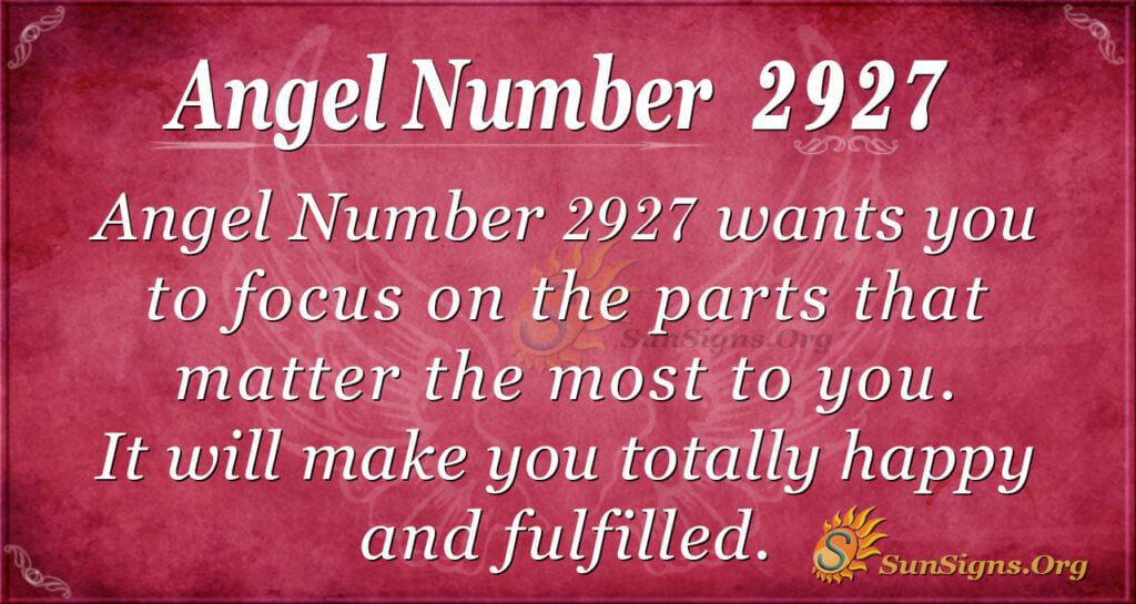 2927 angel number