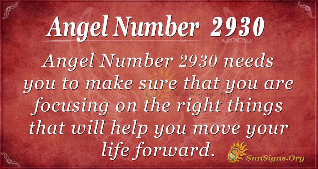 2930 angel number