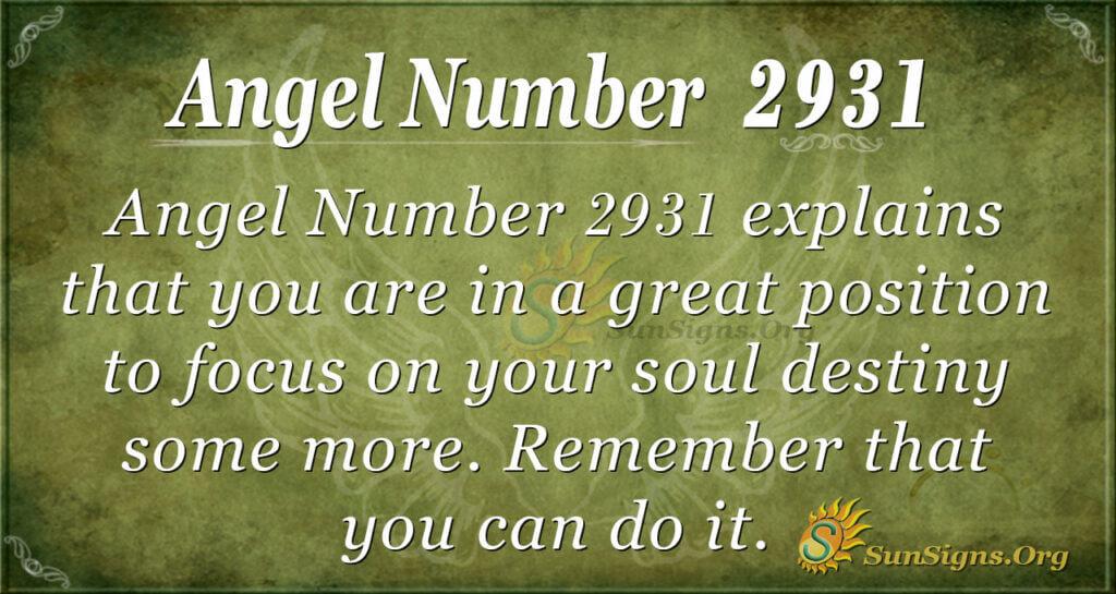 2931 angel number